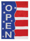 Open flag patriotic banner