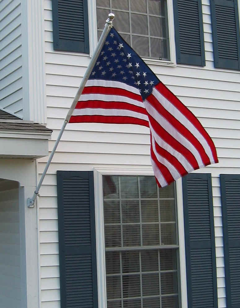 attractive flag for house #1: Flag-Works over America