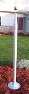 Silver Telescoping Aluminum flagpole down