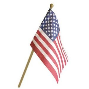 "4"" x 6"" Small American Stick Flag"