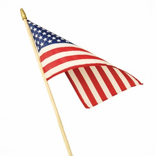 "12"" x 18"" American Stick Flag"