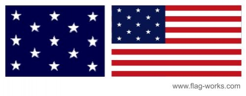 1777-1795 Flag Original 13 Stars