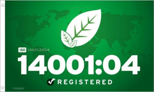 ISO 14001:04 Printed Flag