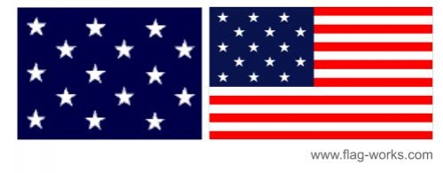 1795 - 1818 - 15 Star Old Glory Flag