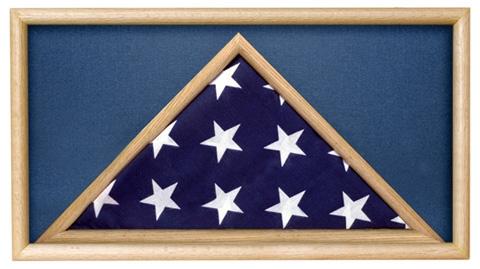 Folded Military Ceremonial Flag Case, Blue