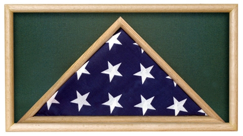 Folded Military Ceremonial Flag Case, Green