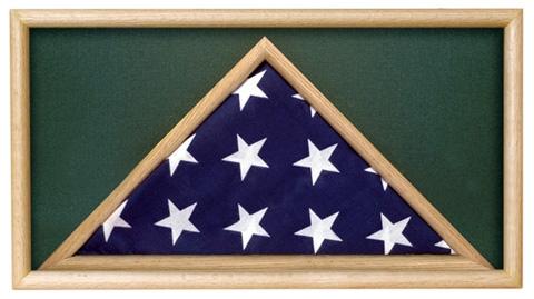 Folded Military Ceremonial Flag Case, Green