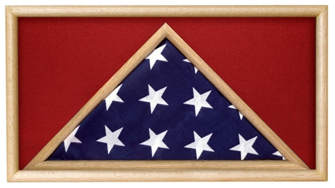 Folded Military Ceremonial Flag Case, Red