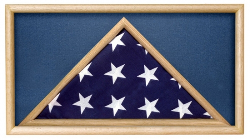 Folded Military Casket Burial Flag Case, Blue
