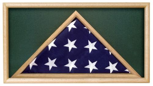 Folded Military Casket Burial Flag Case, Green