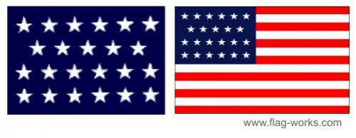 1820 - 1822- 23 Star Old Glory Flag