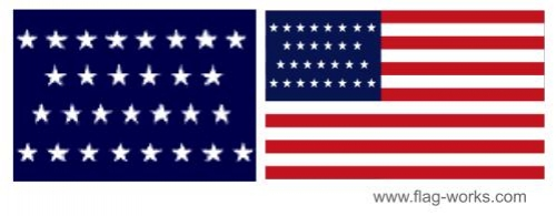 1847 - 1848 - 29 Star Old Glory Flag