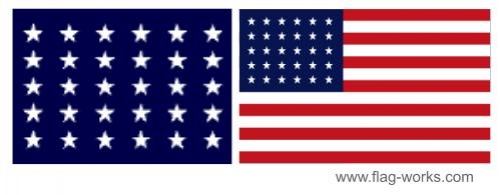 1848 - 1851 - 30 Star Old Glory Flag