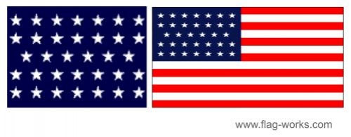 1859 - 1863 - 34 Star Old Glory Flag