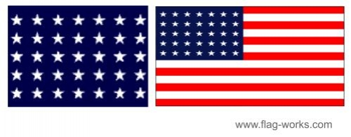 1863 - 1865 - 35 Star Old Glory Flag