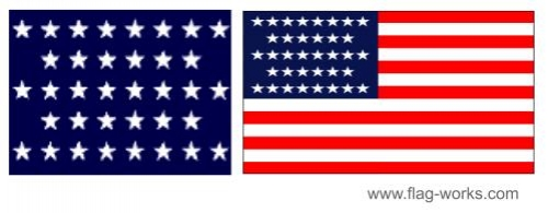 1865 - 1867 - 36 Star Old Glory Flag