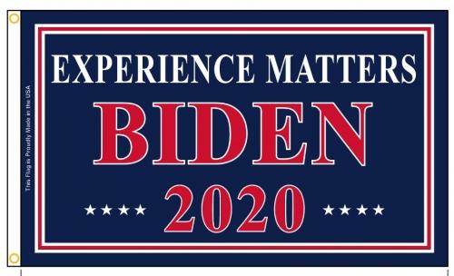 """Biden """"Experience Matters"""" Flag"""