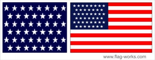 1896 - 1908 - 45 Star Old Glory Flag