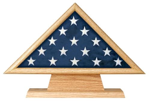 Military Casket Burial Flag Triangle on Pedestal