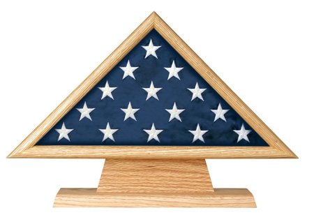 Military Ceremonial Flag Triangle on Pedestal