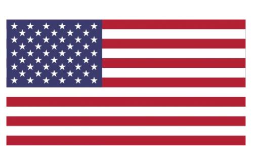 Large Polyester American Flag w/Sewn Stripes, Appliqué Stars, Roped Header & Grommets