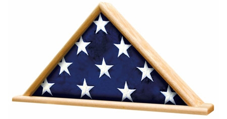 Military Casket Burial Flag Triangle on Base
