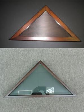 Military Casket Burial Flag Triangle, Mahogany