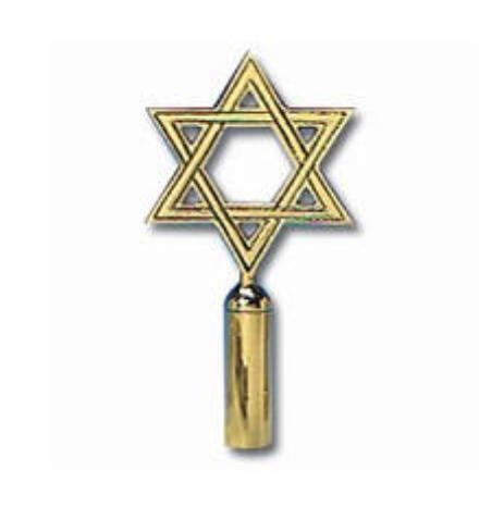 "6"" Star of David Flag Topper"