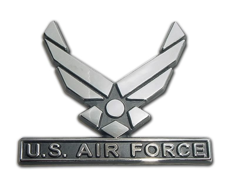US Air Force Wings Chrome Automobile Emblem