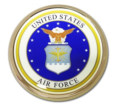 Chrome Air Force Auto Emblem