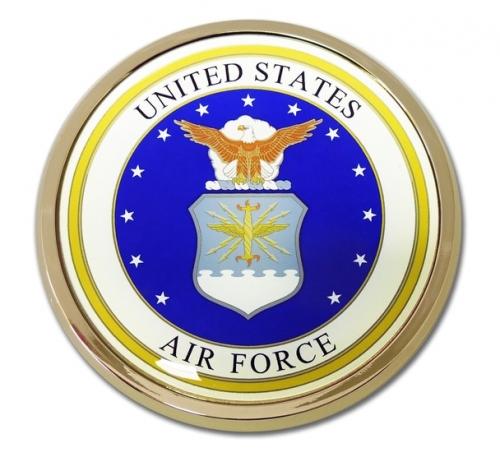 US Air Force Chrome Automobile Emblem