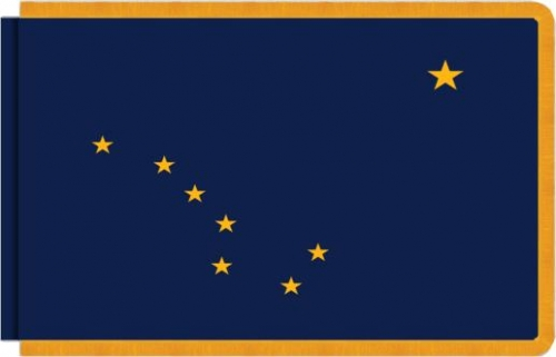 Indoor Alaska State Flag, Nylon
