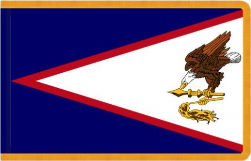 Indoor American Samoa Flag, Nylon