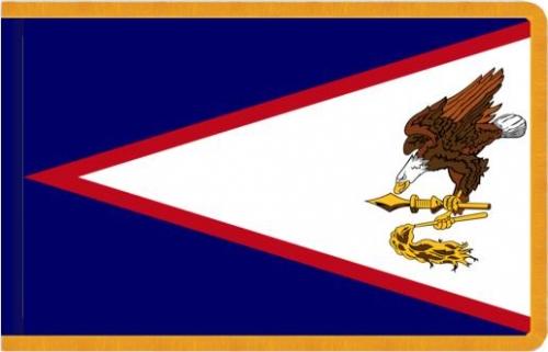 Indoor Flag, Gold Fringe