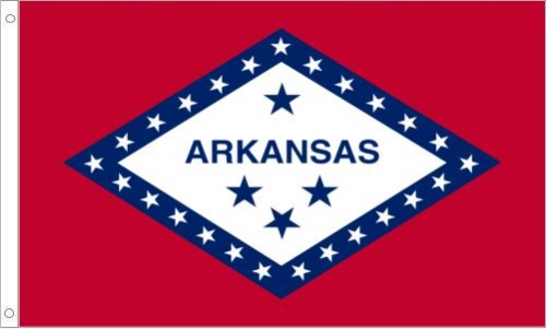 Arkansas Flag, Nylon