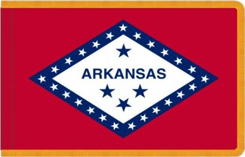 Indoor Arkansas State Flag, Nylon