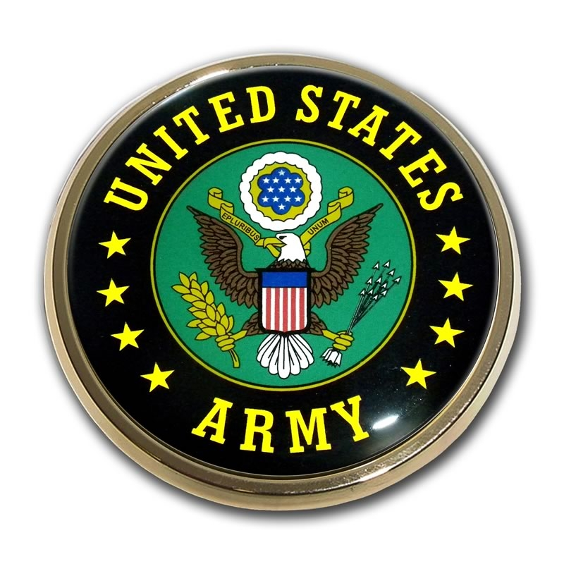 US Army Chrome Automobile Emblem