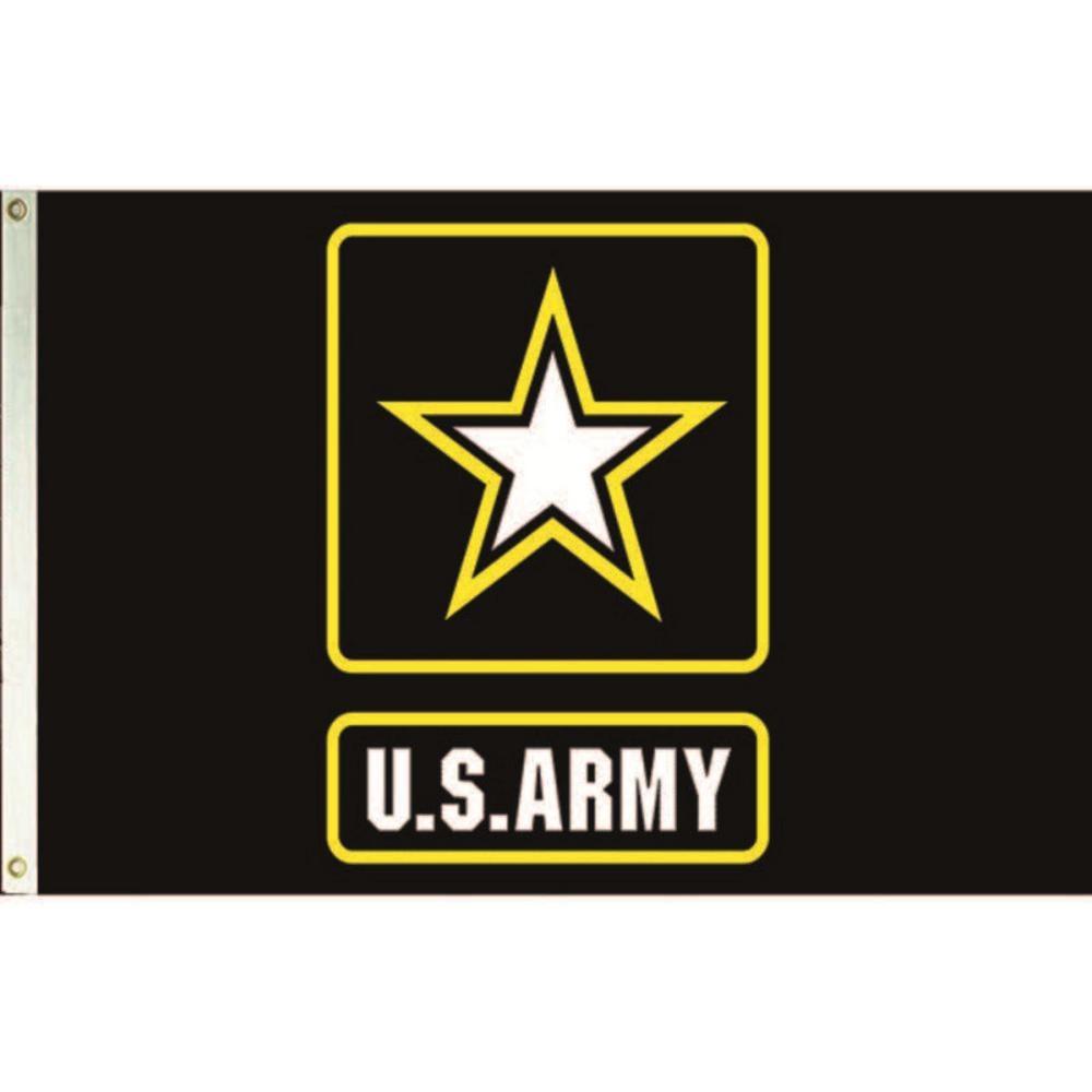3' x 5' US Army Star Logo, H & G, Nylon Flag