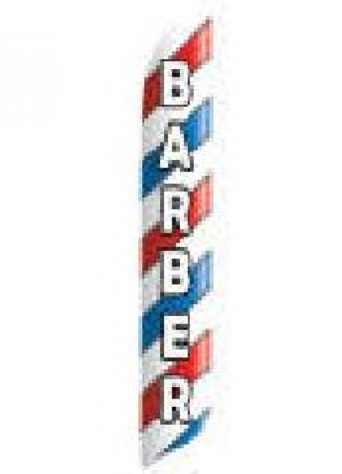Barber Blade Feather Flag