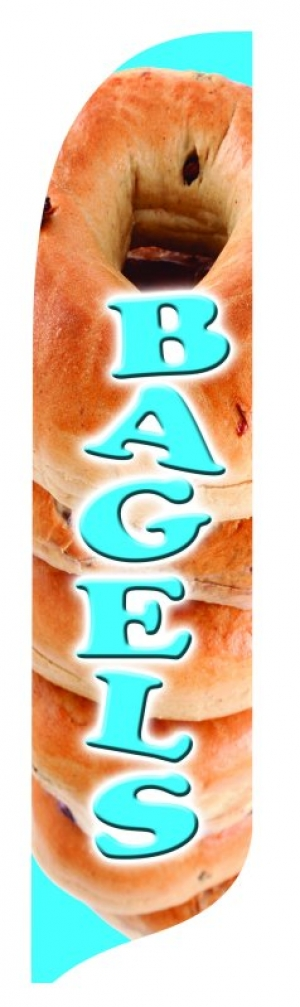 Bagels Blade Feather Flags