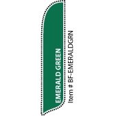 Emerald Green Blade Feather Flag