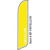 FM Yellow Blade Feather Flag