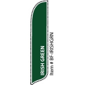 Irish Green Blade Feather Flag