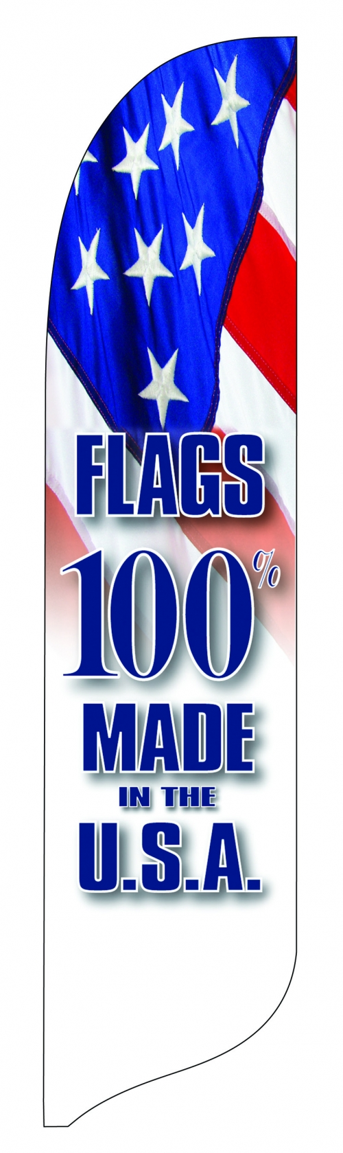Made in USA Blade Flag