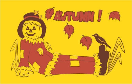 Autumn Scarecrow Flag