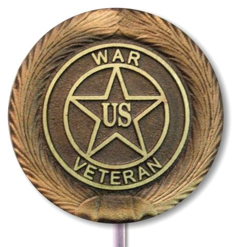 US War Veteran Bronze Grave Marker