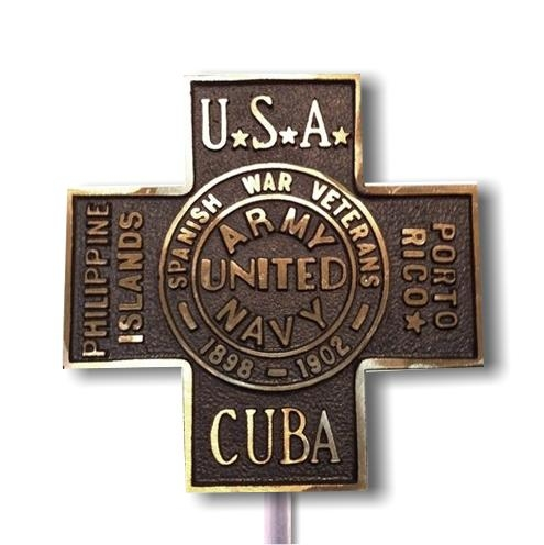 United Spanish War Bronze Grave Marker
