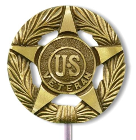 General US Military Bronze Grave Marker