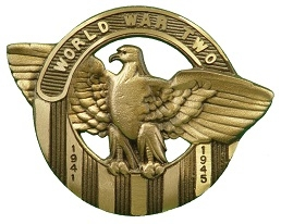 World War II Bronze Eagle Grave Marker