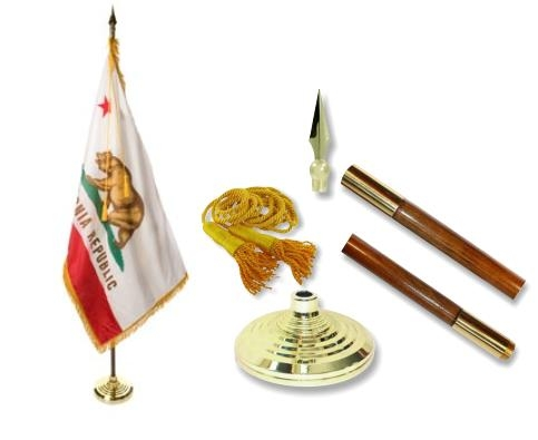 California Indoor State Flag Set